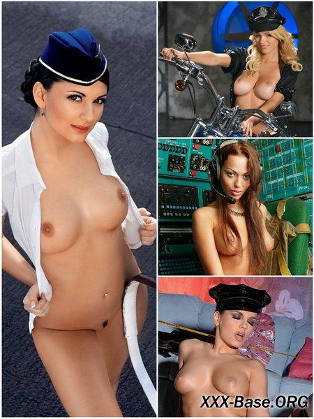 Эротическая фотоподборка сексапильных девушек в униформе (28 шт)