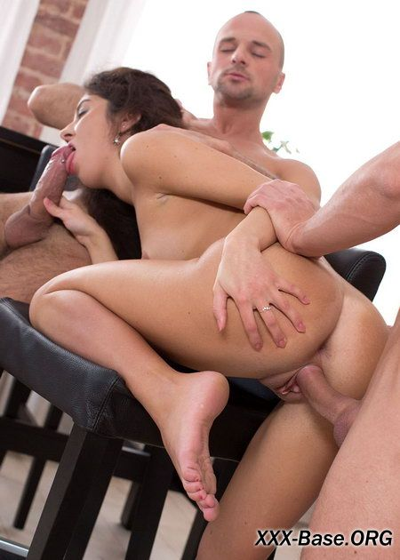 Skinny Teen Katty West Drowns in Cum During Hot Trio